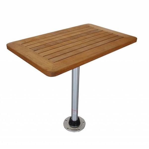 Teak Tafelblad Boot.Nautic Lounge Teak Tafelblad Rechthoekig 55 X 80 Cm