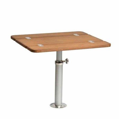 Uitklapbaar tafelblad 90 x 60 cm - Teak Fineer