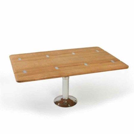 Uitklapbaar tafelblad 125 x 80 cm - Teak Fineer