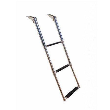 RVS Telescopische ladder - 3 treden