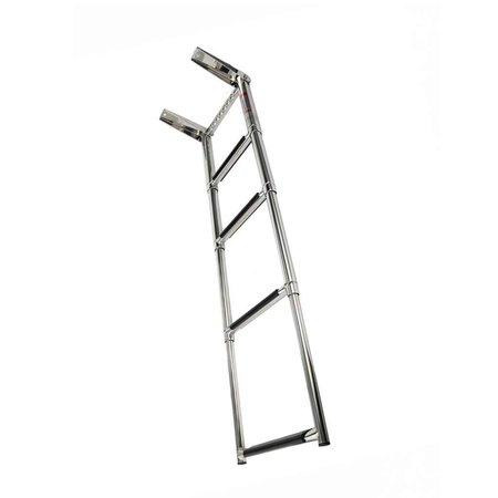 RVS Telescopische ladder - 4 treden