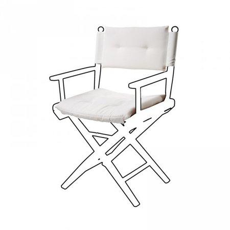 Deluxe kussens voor regisseursstoel I - Wit