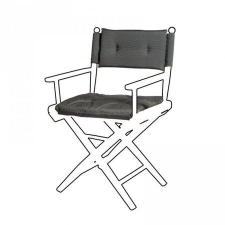 Deluxe kussens voor regisseursstoel I - Forza Zwart
