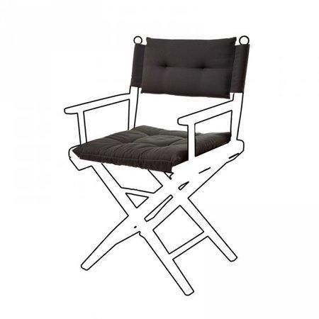 Deluxe kussens voor regisseursstoel I - Zwart