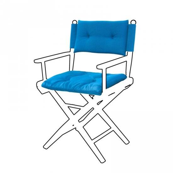 Deluxe kussens voor regisseursstoel I - Forza Blauw