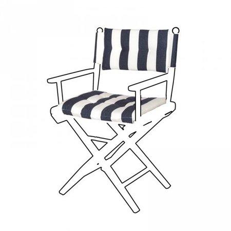 Deluxe kussens voor regisseursstoel I - Navy/Wit