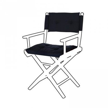 Deluxe kussens voor regisseursstoel I - Donker Blauw