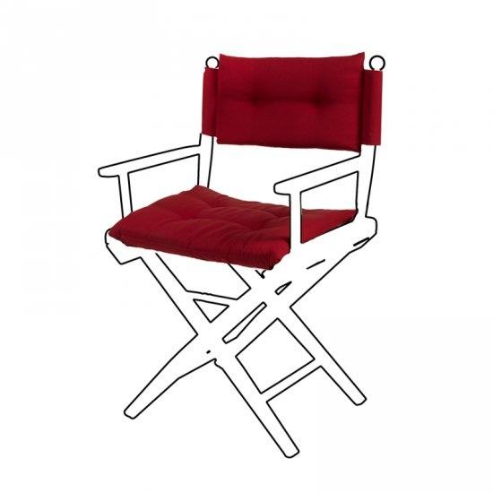 Deluxe kussens voor regisseursstoel I - Claret