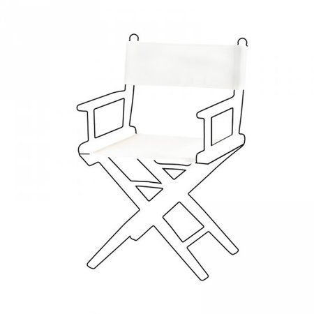 Canvas bekleding voor regisseursstoel I - Wit