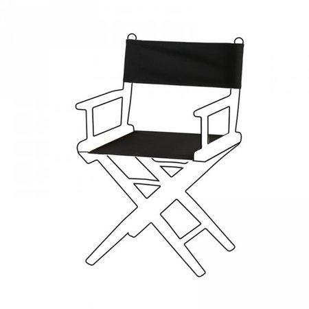 Canvas bekleding voor regisseursstoel I - Zwart