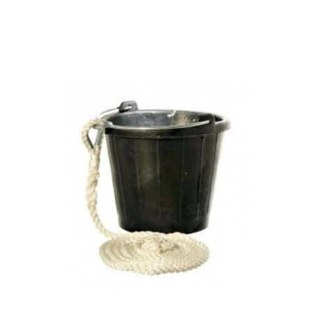 rubber emmer - 8 liter - Met koord