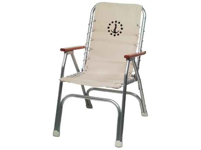 Bootstoel - Dekstoel Aluminium - Beige (set van 2)