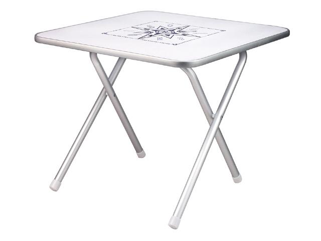 Aluminium Boottafel - Nautische Print - 60 x 60 cm