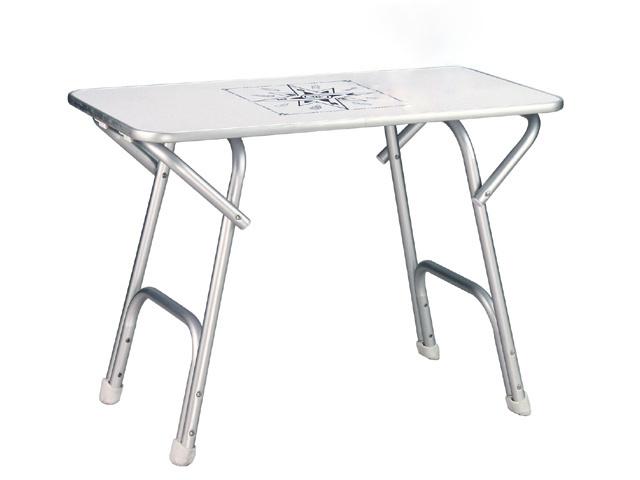 Aluminium Boottafel - Nautische Print - 88 x 44 cm
