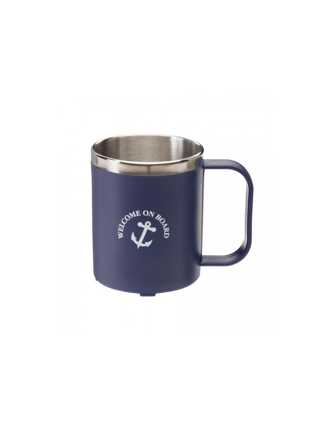 Koffiebeker Met RVS Binnenkant - Blauw