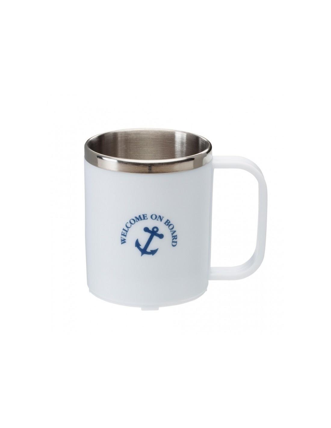 Koffiebeker Met RVS Binnenkant - Wit