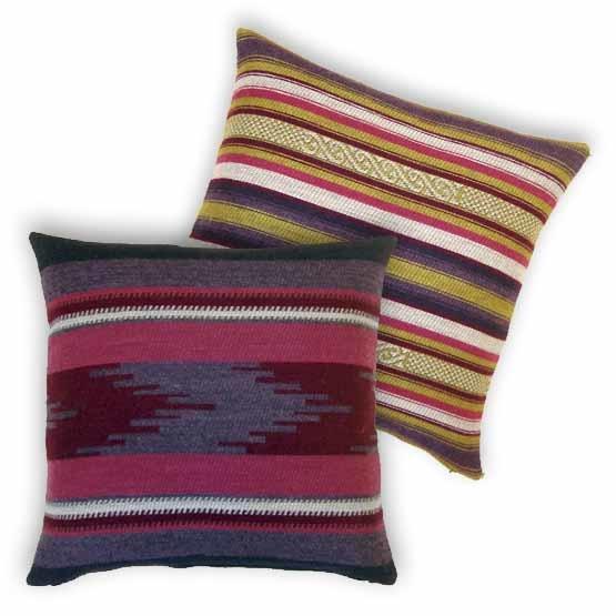 - Bohemian - Kussens - Andes - Paars - Set - 45 x 45 cm