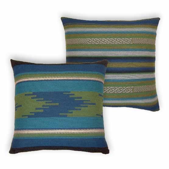 - Bohemian - Kussens - Andes - Blauw - Set - 45 x 45 cm