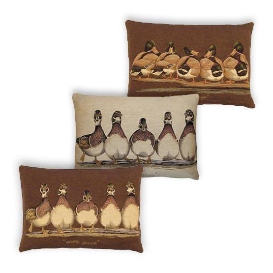 - Vogelwereld - Kussens - Eenden - Set/3 - 35 x 50 cm