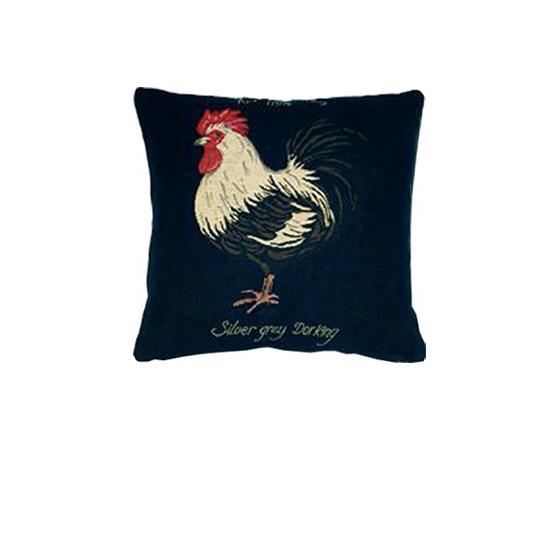 - Vogelwereld - Kussens - Haan - Zwart - Set/3 - 33 x 33 cm