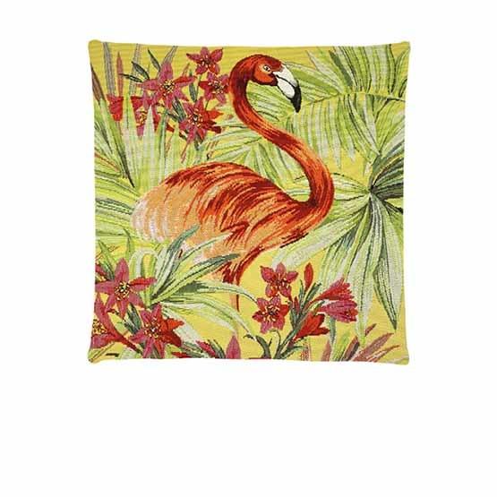 - Tropische Vogel - Kussens - Jungle - Geel - Set - 45 x 45 cm