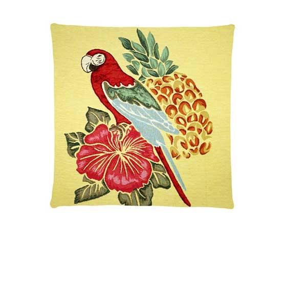 - Tropische Vogel - Kussens - Vogels - Geel - Set - 45 x 45 cm