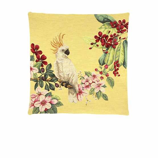 - Tropische Vogel - Kussens - Kaketoe - Geel - Set - 45 x 45 cm