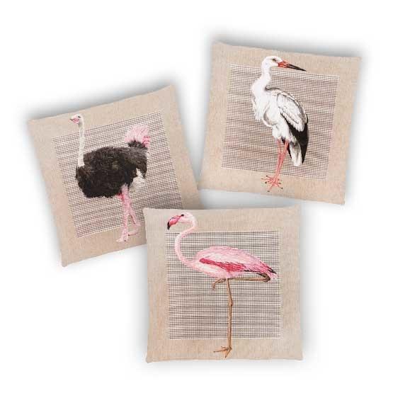 - Tropische Vogels - Kussens - Exotisch - Set/3 - 45 x 45 cm