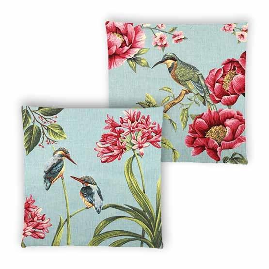 - Tropische Vogels - Kussens - Watervogel - Set - 45 x 45 cm