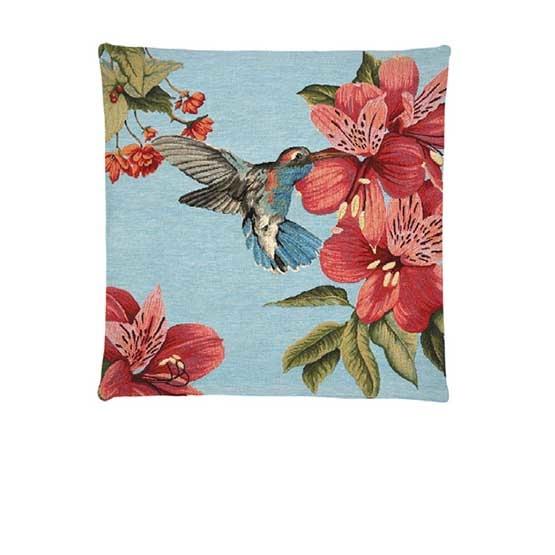 - Tropische Vogels - Kussens - Kolobri - Blauw - Set - 45 x 45 cm