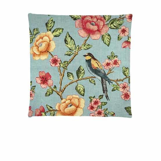 - Tropische Vogels - Kussens - Bloessem - Aqua - Set/3 - 45 x 45 cm