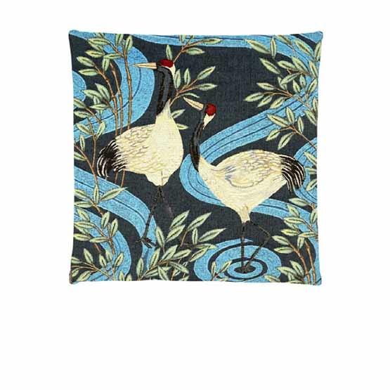 - Tropische Vogels - Kussens - Kraanvogel - Blauw - Set - 45 x 45 cm