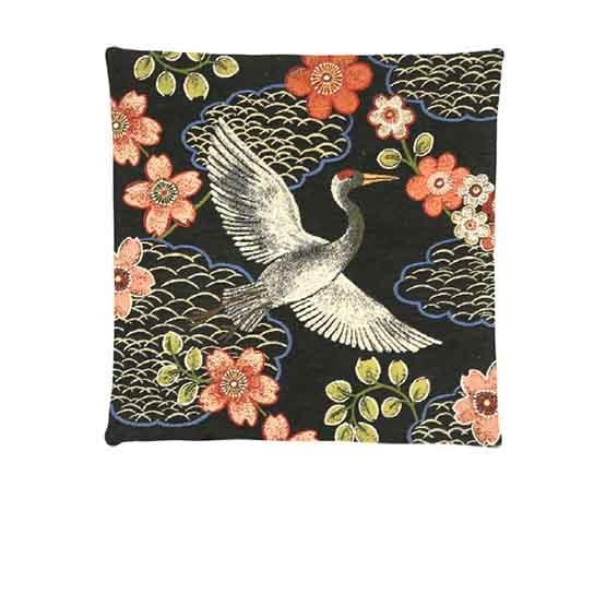 - Tropische Vogels - Kussens - Kraanvogel - Zwart - Set - 45 x 45 cm