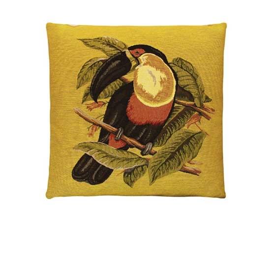 - Tropische Vogels - Kussens - Toekan - Geel - Set/3 - 45 x 45 cm