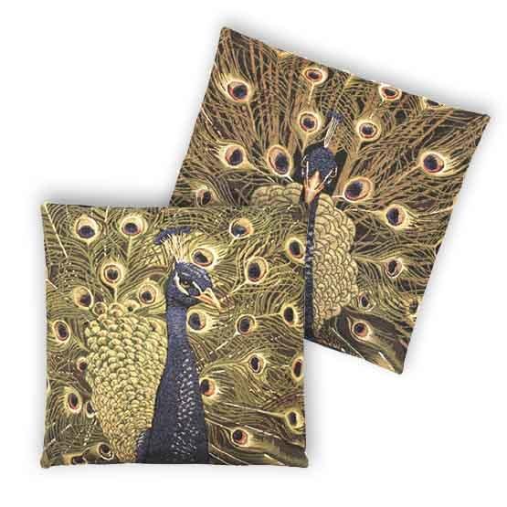 - Tropische Vogels - Kussens - Pauw - Set - 45 x 45 cm