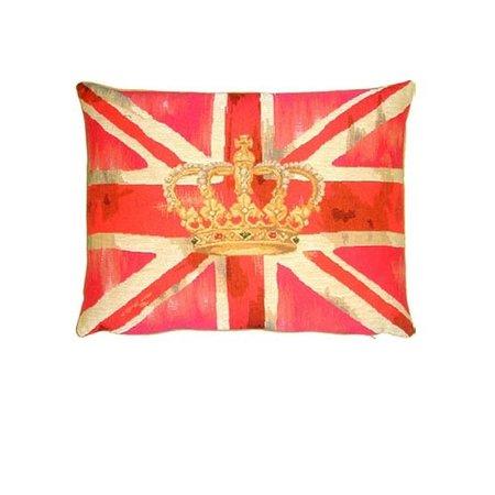 - Union Jack - Kussen - Vintage Crown - Pink