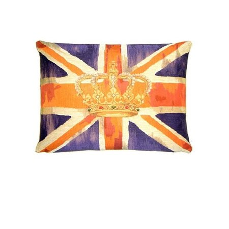 - Union Jack - Kussen - Vintage Crown - Paars