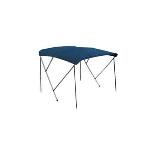 - Aluminium - Biminitop - 3 boog - H 130 - B 170/180 - L 165 - Blauw