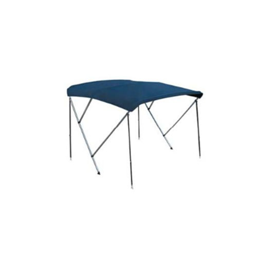 - Aluminium - Biminitop - 3 boog - H 130 - B 185/195 - L 165 - Blauw