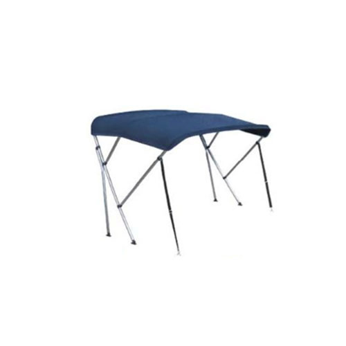 - Aluminium - Biminitop - 3 boog - H 130 - B - 190/210 - L 183 - Blauw