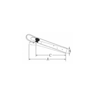 - Boegrol - Anker - 390 mm - Roestvrij Staal - Zware constructie