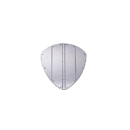 - Boeg Schild - B 345 mm - H 350 mm - Roestvrij Staal