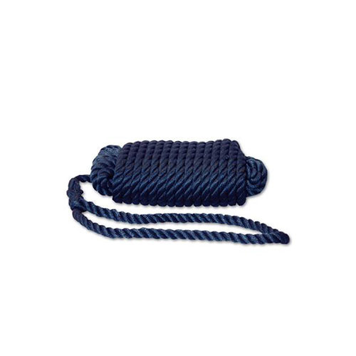 - Landvast - 3 Strengs - Polypropyleen - 12 mm - 12 meter - Blauw