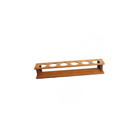 - 6-Longdrink glazenrek - 55,9 x 9,5 x 9 cm - Gaten: ø 6,3 cm - Teak