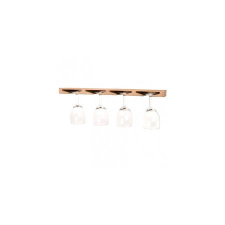 - Wijnglashouder - plafond bevestiging - 43 x 12 cm - Teak