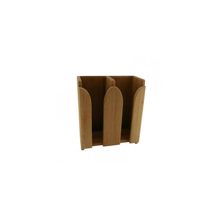 - Kopjesrek 2 stapels - 21,5 x 25,5 x 11 cm - Teak