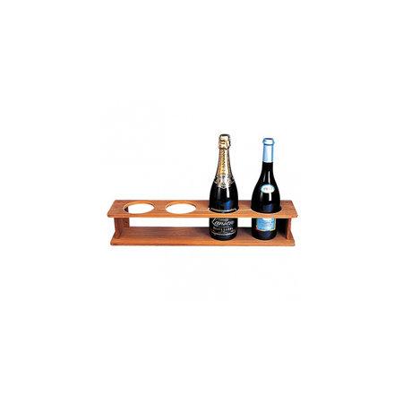- Rek voor 4 flessen - 56 x 11,5 x 10,5 cm - Gaten: ø 9 cm - Teak