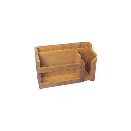 - Borden, kopjes & bestekrek - 40 x 14 x 25 cm - Teak