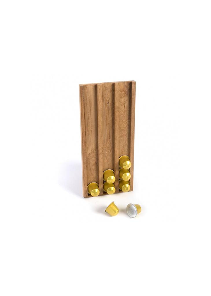 - Koffiecups-houder - 14 x 31 x 1,6 cm - Teak