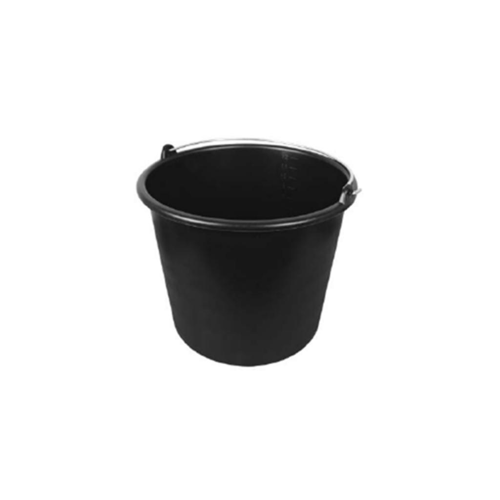 bouwemmer - 12 liter - Zwart
